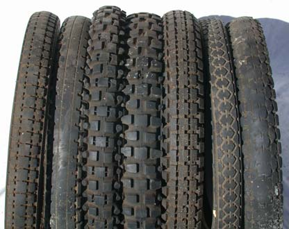 Douglas and/or Triumph motorcycle tyres