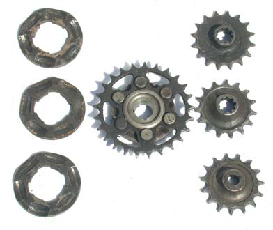 Douglas motorcycle sprockets