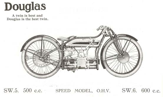 Advertisement for the Douglas SW motorcycle