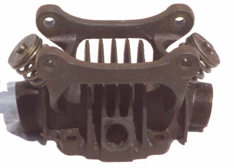 Douglas hmotorcycle cylinder heads type 2 outside view