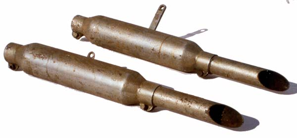 Douglas and/or Triumph motorcycle mufflers