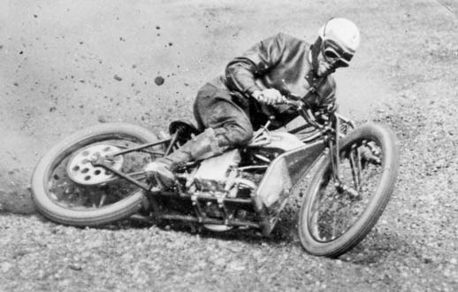 Alex Kynoch veteran Douglas motorcycle dirt track racing