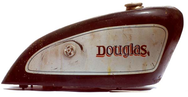 Douglas motorcycle tank 1-side view