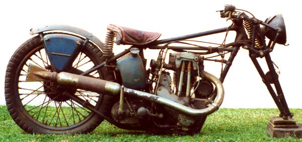 Triumph 250 motorcycle right hand side view