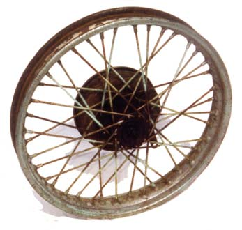 Triumph motorcycle wheel